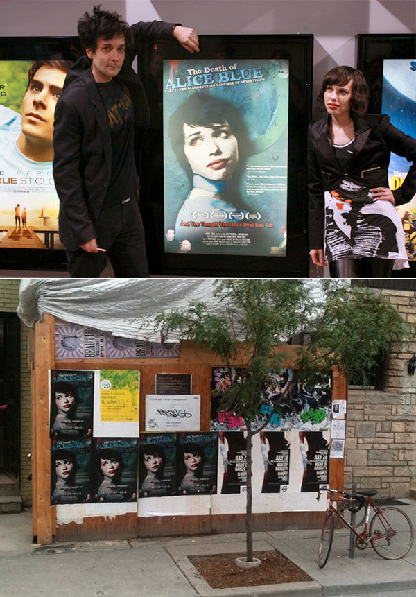 Postered around Toronto and at the theatrical release with the Director Park Bench and Producer/lead actress, Alex Appel
