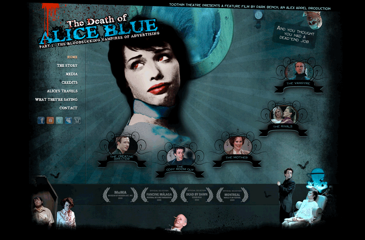 The Death of Alice Blue, the official website