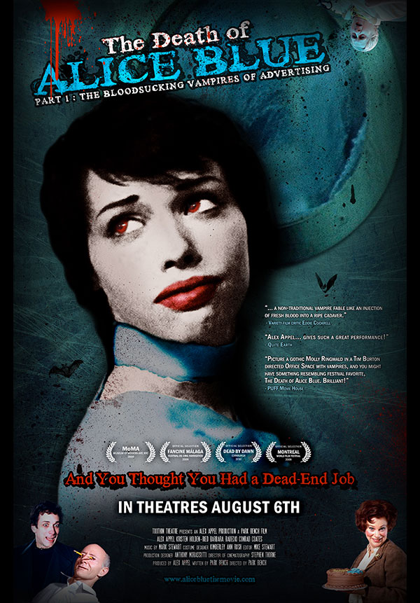 The Death of Alice Blue, theatre poster