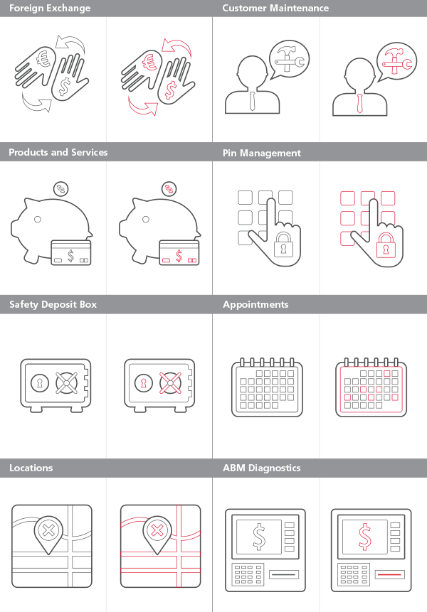 Universal Banking line icons