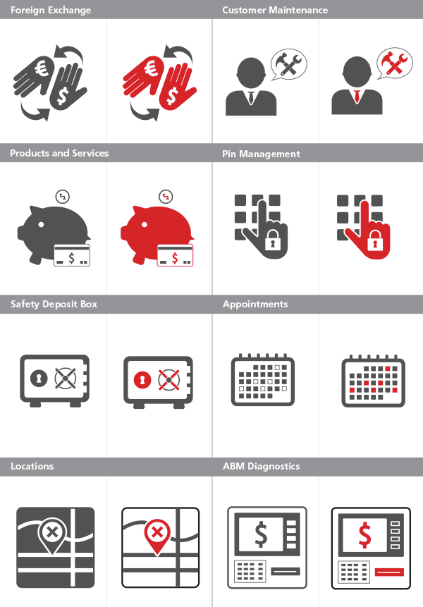 Universal Banking icons